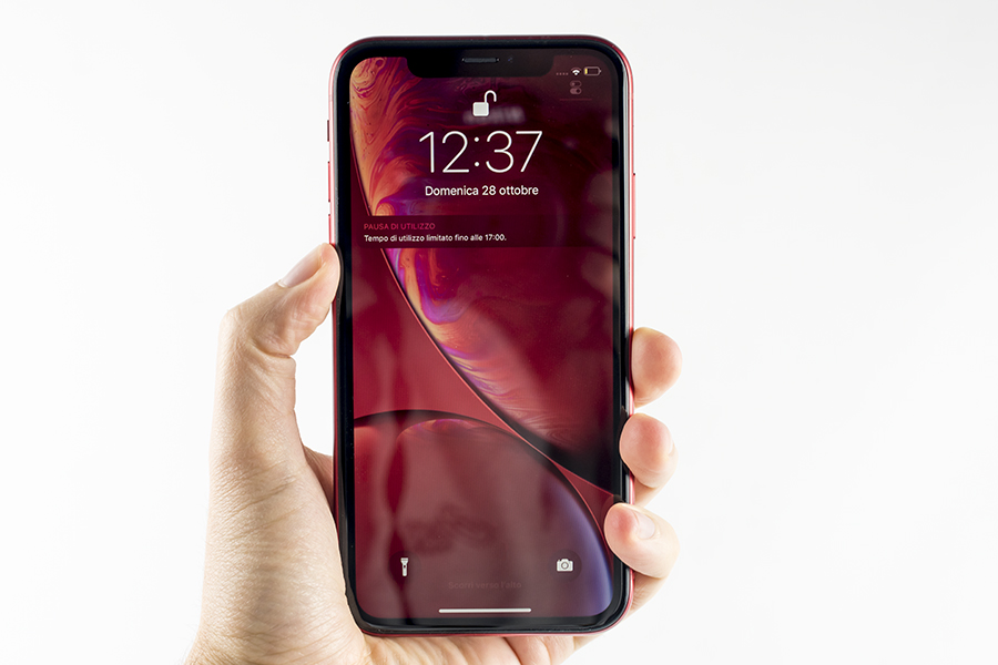 iphone xr in mano
