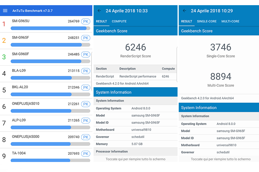samsung s9 plus benchmarks